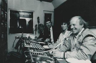 Director Geoff Wilson in BBC outside broadcast unit 1969