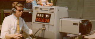 Ken Osbourn on camera at Wimbledon July 1967
