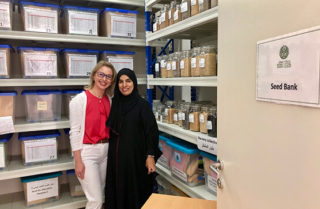 Jurga Zilinskiene and the scientists in the Oman Seed Bank